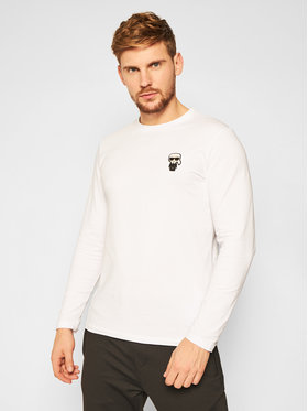 KARL LAGERFELD KARL LAGERFELD Manches longues Crewneck Ls 755028 502221 Blanc Regular Fit