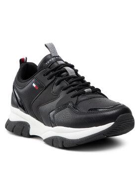 Tommy Hilfiger Tommy Hilfiger Sneakersy Low Cut Lace-Up Sneaker T3A4-31177-0518999 S Czarny