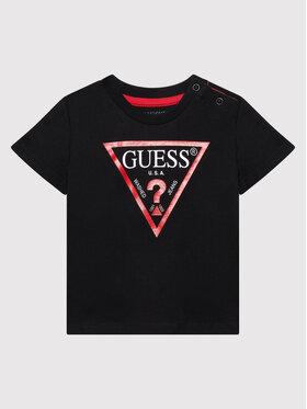 Guess Guess Tričko N73I55 K8HM0 Čierna Regular Fit