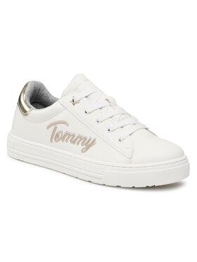 Tommy Hilfiger Tommy Hilfiger Sneakersy Low Cut Lace-Up Sneaker T3A4-31024-1190 S Biały