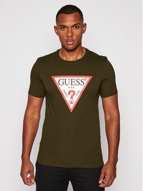 Guess Guess T-Shirt M0BI71 I3Z11 Grün Slim Fit