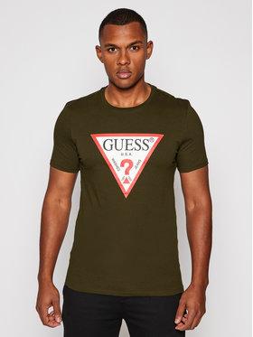 Guess Guess T-Shirt M0BI71 I3Z11 Zielony Slim Fit