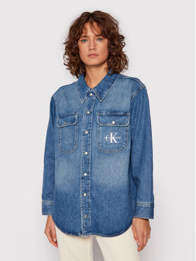 Calvin Klein Jeans Calvin Klein Jeans Koszula jeansowa J20J216491 Niebieski Oversize