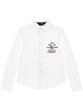 Polo Ralph Lauren Polo Ralph Lauren Marškiniai Ls Bd 323834895001 Balta Regular Fit