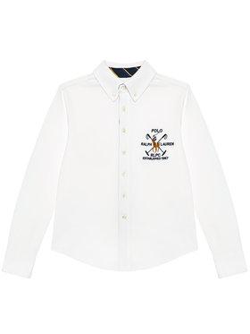 Polo Ralph Lauren Polo Ralph Lauren Πουκάμισο Ls Bd 323834895001 Λευκό Regular Fit