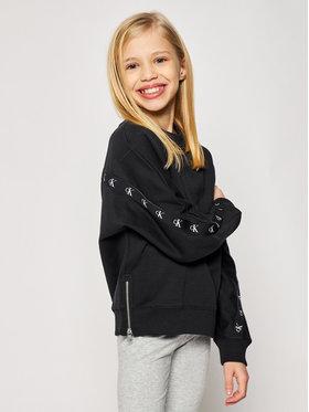 Calvin Klein Jeans Calvin Klein Jeans Sweatshirt Monogram Tape IG0IG00687 Schwarz Regular Fit