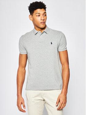 Polo Ralph Lauren Polo Ralph Lauren Тениска с яка и копчета Core Replen 710782592 Сив Custom Slim Fit