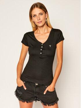Guess Guess T-Shirt Mariana W0YP76 K9VM0 Μαύρο Slim Fit