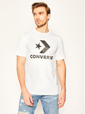 Converse Converse T-Shirt Star Chevron 10018568-A02 Biały Regular Fit