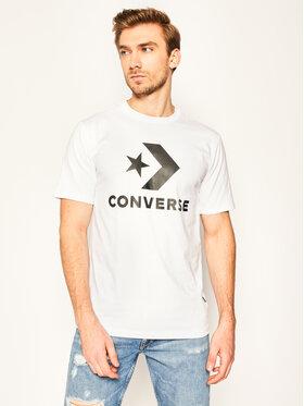 Converse Converse Тишърт Star Chevron 10018568-A02 Бял Regular Fit