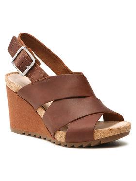 Clarks Clarks Sandále Flex Sand 261504304 Hnedá