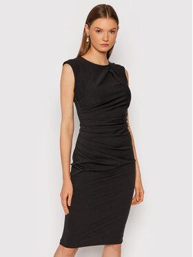 Rinascimento Rinascimento Коктейлна рокля CFC0104349003 Черен Slim Fit