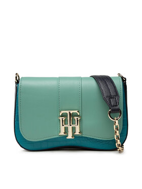 Tommy Hilfiger Tommy Hilfiger Geantă Th Lock Crossover Croc Mix AW0AW10243 Verde