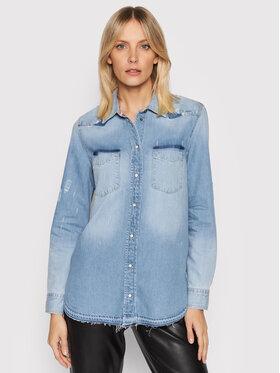 Guess Guess Koszula jeansowa Abrasions W1BH33 D2R17 Niebieski Regular Fit