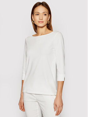 Marella Marella Блуза Vaso 39710415200 Бял Regular Fit