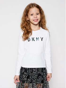 DKNY DKNY Bluse D35Q78 S Weiß Regular Fit