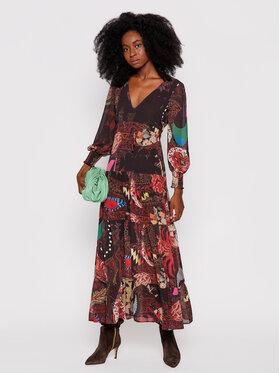 Desigual Desigual Sukienka codzienna MONSIEUR CHRISTIAN LACROIX Viena 21WWVW64 Brązowy Regular Fit