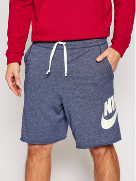 NIKE NIKE Szorty sportowe Sportswear Alumni AR2375 Granatowy Loose Fit