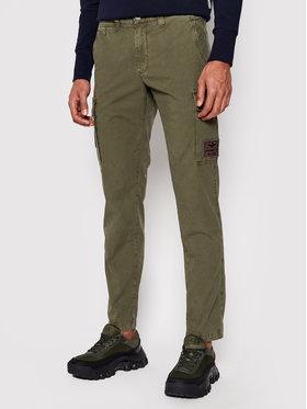 Aeronautica Militare Aeronautica Militare Kalhoty z materiálu 211PA1437CT2847 Zelená Regular Fit