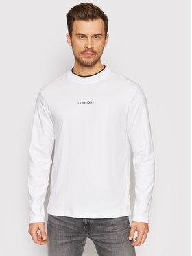 Calvin Klein Calvin Klein Тениска с дълъг ръкав Center Logo K10K107886 Бял Regular Fit