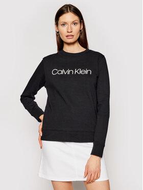 Calvin Klein Calvin Klein Majica dugih rukava Core Logo Prt K20K202017 Crna Regular Fit
