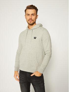 Wrangler Wrangler Sweatshirt Logo W6B9HYX37 Gris Regular Fit