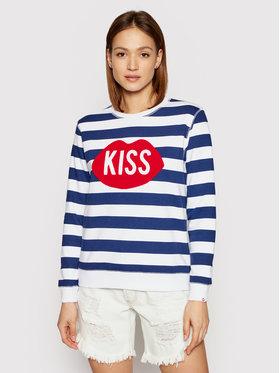 PLNY LALA PLNY LALA Felpa Kiss PL-BL-RG-00051 Blu scuro Regular Fit