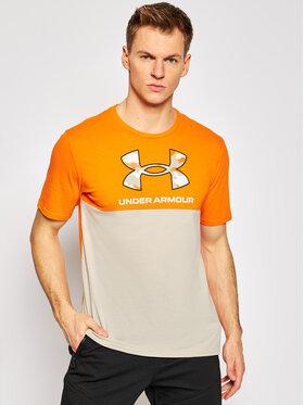 Under Armour Under Armour Marškinėliai Ua Camo Big Logo 1357172 Oranžinė Loose Fit
