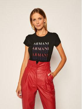 Armani Exchange Armani Exchange T-Shirt 6HYTAM YJ7GZ 1200 Czarny Regular Fit