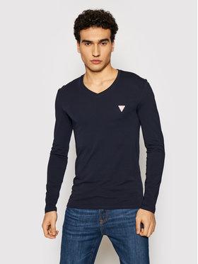 Guess Guess Marškinėliai ilgomis rankovėmis M1RI08 J1311 Tamsiai mėlyna Extra Slim Fit
