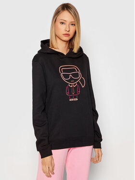 KARL LAGERFELD KARL LAGERFELD Sweatshirt Ikonik Outline 215W1811 Noir Relaxed Fit