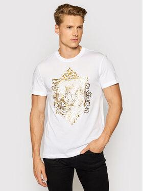 Versace Jeans Couture Versace Jeans Couture Тишърт 71GAHF05 Бял Regular Fit