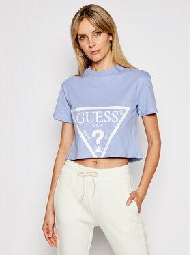 Guess Guess Marškinėliai O1GA21 K8HM0 Violetinė Regular Fit