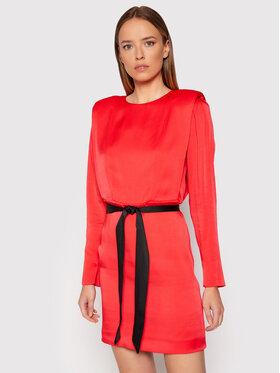TWINSET TWINSET Koktel haljina 212TT2412 Crvena Regular Fit