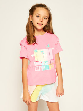 Billieblush Billieblush T-Shirt U15721 Różowy Regular Fit