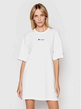 Champion Champion Φόρεμα καθημερινό Small Script Logo 112743 Λευκό Custom Fit