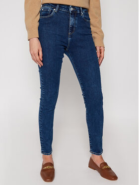 Guess Guess Jean Skinny Fit Lush W1RA95 D4663 Bleu marine Skinny Fit