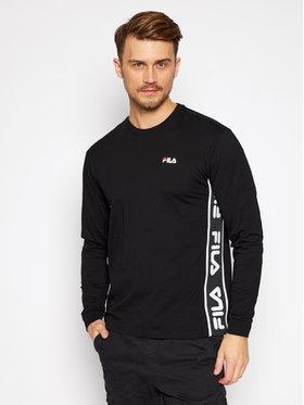 Fila Fila Тениска с дълъг ръкав Tedos Tape 687886 Черен Regular Fit