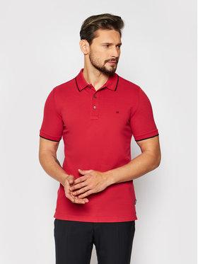 Calvin Klein Calvin Klein Polokošeľa Stretch Tipping K10K107211 Červená Slim Fit