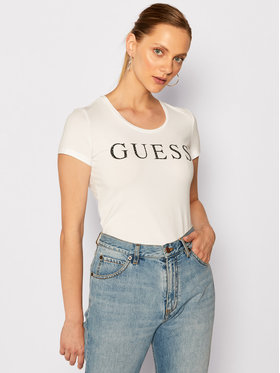 Guess Guess Tricou Emma W0YI0F J1300 Alb Regular Fit
