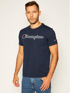 Champion Champion T-Shirt Logo 214194 Tmavomodrá Comfort Fit