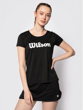 Wilson Wilson Funkční tričko Uwii Script Tech Tee WRA770507 Černá Slim Fit