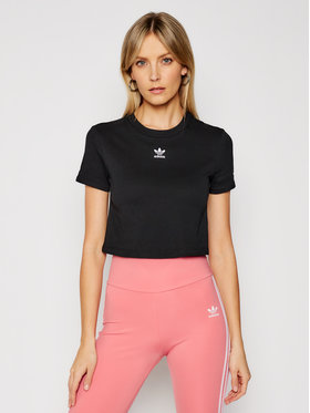 adidas adidas Tricou Crop Top GN2802 Negru Regular Fit