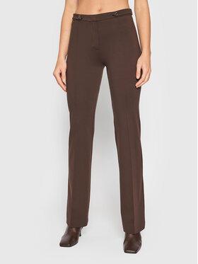 Pinko Pinko Spodnie materiałowe Hulk 1G16Q7 1739 Brązowy Slim Fit