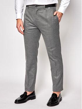 Calvin Klein Calvin Klein Bavlnené nohavice Pleat K10K105705 Sivá Tapered Fit