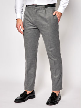 Calvin Klein Calvin Klein Pantaloni din material Pleat K10K105705 Gri Tapered Fit