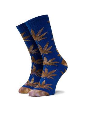 HUF HUF Unisex Magasszárú Zokni Plantlife Tiedye Leaves Sock SK00433 r.OS Kék