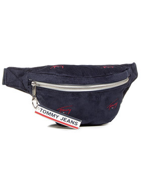 Tommy Jeans Tommy Jeans Borsetă Tjw Logo Tape Bumbag Cord AW0AW091020 Bleumarin
