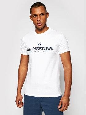 La Martina La Martina Тишърт RMR020 JS206 Бял Regular Fit