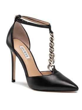 Guess Guess Pantofi cu toc subțire Niomy FL5NIO LEA08 Negru